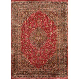 ecarpetgallery Persian Kashmar Purple/ Red Wool Rug (9'4 x 12'11)