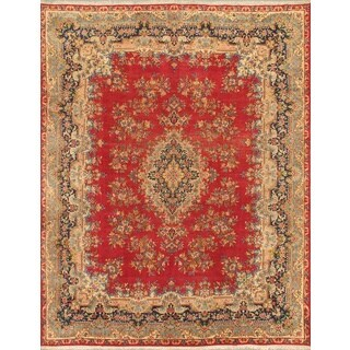 ecarpetgallery Persian Kerman Red Wool Rug (9'10 x 12'11)