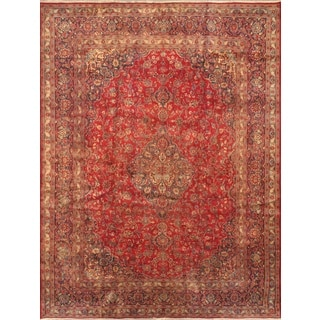 ecarpetgallery Persian Kashmar Blue/ Red Wool Rug (9'8 x 12'7)