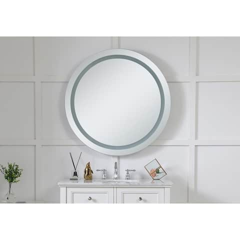 "LED Hardwired Mirror Round D36"" Dimmable 5000K"