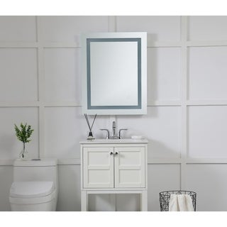 """LED Hardwired Mirror Rectangle W24""""H30"""" Dimmable 5000K - Silver"""