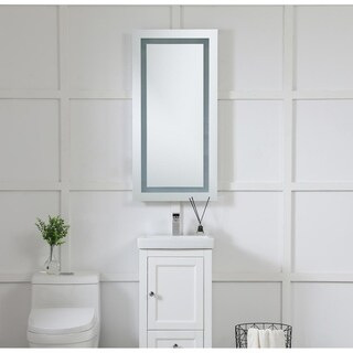 "LED Hardwired Mirror Rectangle W20""H40"" Dimmable 5000K - Silver"