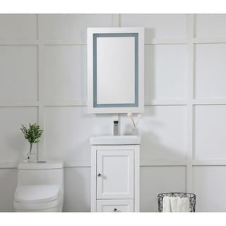 Elegant Lighting Rectangle LED Electric Mirror (20x30)