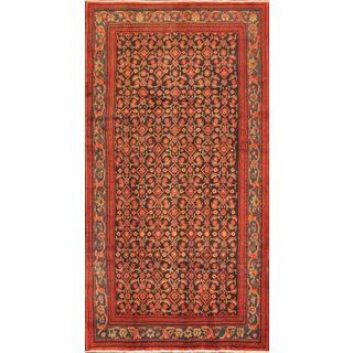 ecarpetgallery Persian Mahal Blue/ Red Wool Rug (4'9 x 9'6)