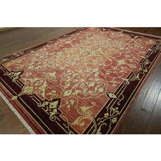W765 Wool Peshawar Chobi Hand-knotted Oriental Oushak Area Rug (8' x 12')