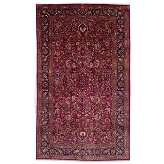 ecarpetgallery Mashad Red Wool Rug (10' x 16'3)