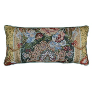Floral Tapestry Decorative Throw Pillow