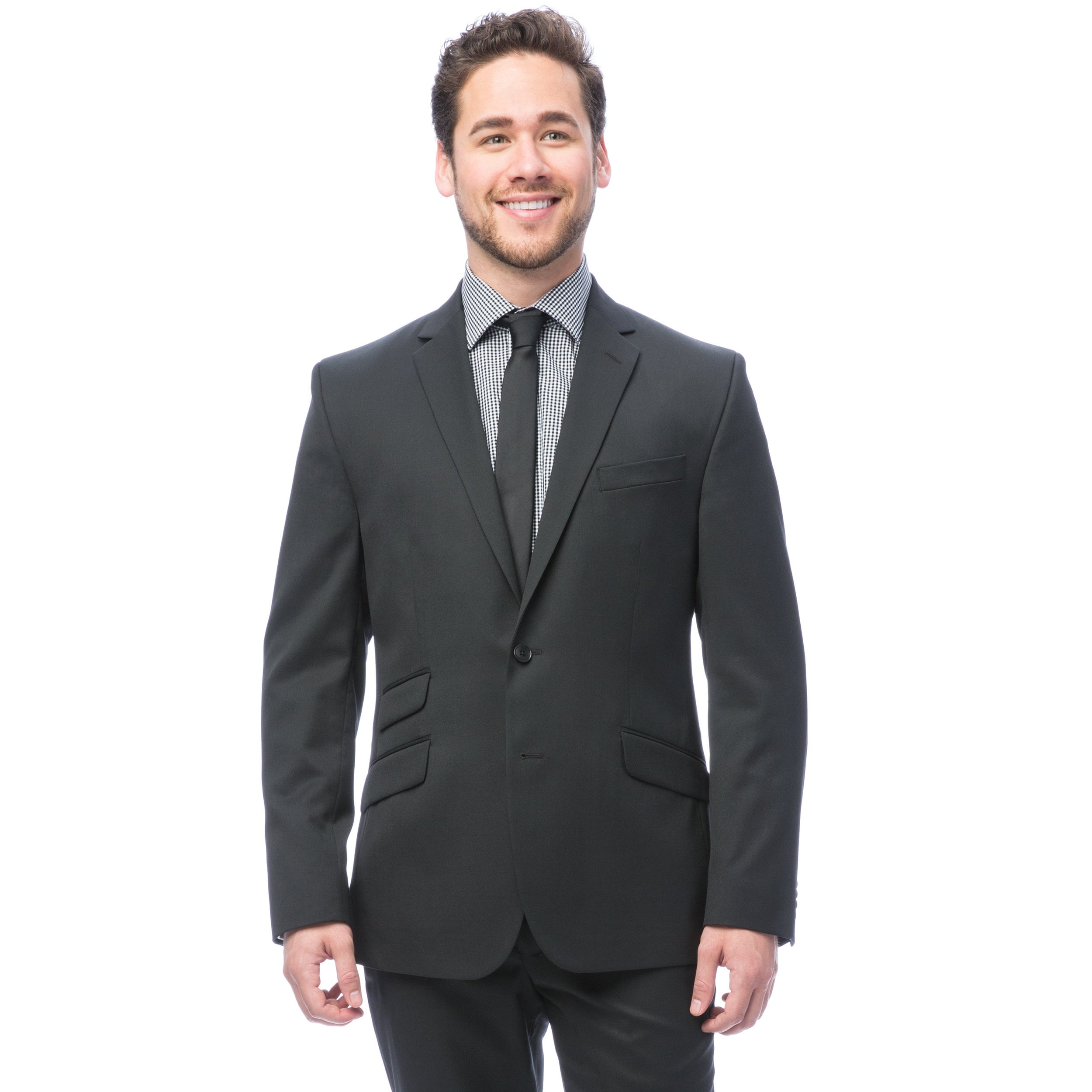 Kenneth Cole New York Mens Gray Solid Suit-Separate Jacket