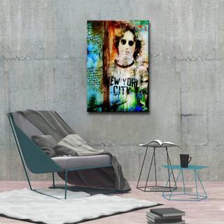 Iconic John Lennon' ArtPlexi by Ready2HangArt - Multi-color