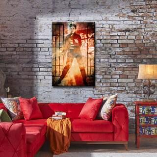Iconic Elvis Jailhouse Rock ArtPlexi by Ready2HangArt - Multi-color