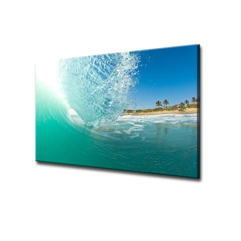 Nicola Lugo 'Surf' ArtPlexi by Ready2HangArt - Blue