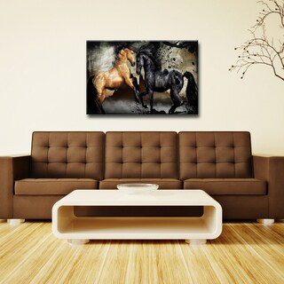 Equestrian Saddle Ink I' ArtPlexi by Ready2HangArt - Multi-color