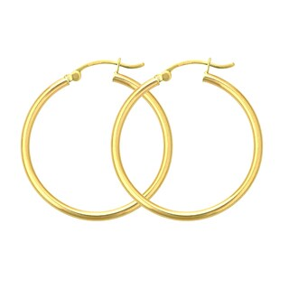 Decadence 14k Yellow Gold 4mm Hoop Earrings