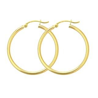 Decadence 14k Yellow Gold 4mm Hoop Earrings