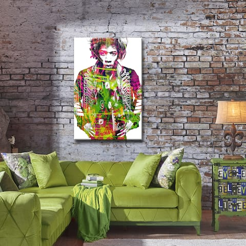 Iconic Jimmy Hendrix' ArtPlexi by Ready2HangArt - Multi-color