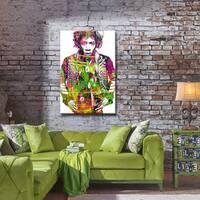 Iconic Jimmy Hendrix' ArtPlexi by Ready2HangArt - Multi-color