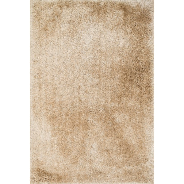 Hand-Tufted Evelyn Beige Shag Rug (7'6 x 9'6)