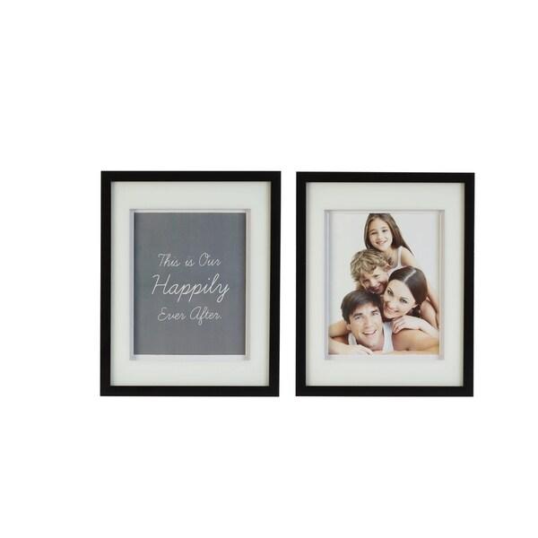 Shop Melannco Set Of 2 12x15in Black Plastic 8x10 Frames Free