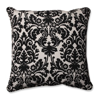 Pillow Perfect Outdoor/ Indoor Damask Black/ Off-white 25-inch Floor Pillow