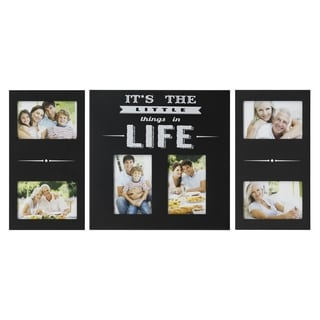 Melannco 'It's The Little Things In Life' 4x6 Photo Collage (Set of 3)