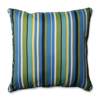 Pillow Perfect Outdoor/ Indoor Topanga Stripe Lagoon 25-inch Floor Pillow
