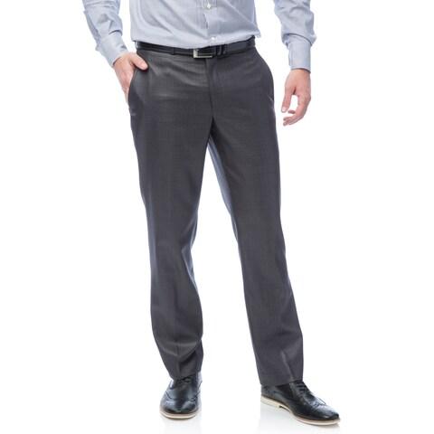 Kenneth Cole Men's Reaction Gunmetal Basketweave Suit Separates Pant