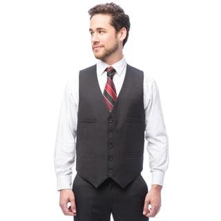 Kenneth Cole Reaction Black Pin Dot Suit Separate Vest