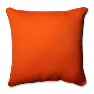 Pillow Perfect Outdoor/ Indoor Sundeck Orange 25-inch Floor Pillow