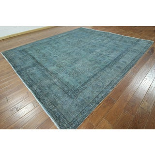 W870 Blue Wool Overdyed Hand-knotted Oriental Rug (10' x 12')