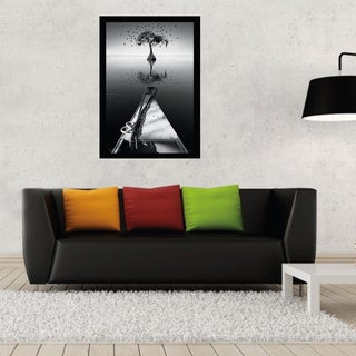 My Tree Print (24-inch x 36-inch) with Contemporary Poster Frame
