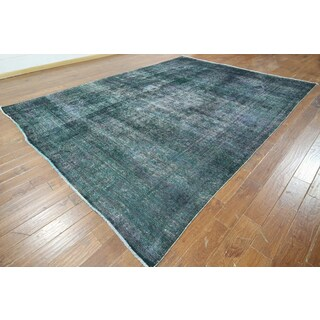 W879 Wool Hand-knotted Oriental Overdyed Rug (10' x 13')