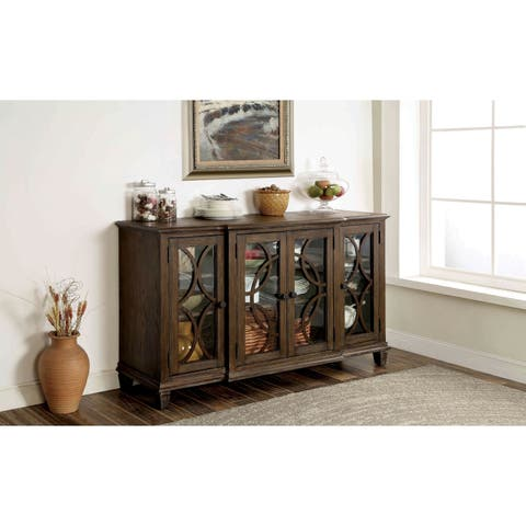 Haylette Rustic Wire-Brushed Brown Dining Server by FOA