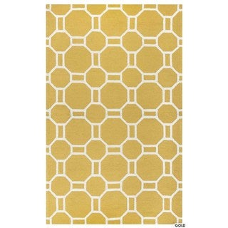 Rizzy Home Azzura Hill Collection Bi-Colored Geometric Accent Rug (2' x 3')