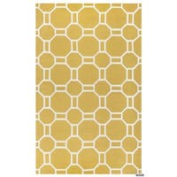 Rizzy Home Azzura Hill Collection Bi-Colored Geometric Accent Rug (2' x 3') - 2' x 3'