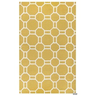 Rizzy Home Azzura Hill Collection Bi-Colored Geometric Accent Rug (2' x 3') (Option: Blue)