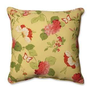Pillow Perfect Outdoor/ Indoor Risa Lemonade 25-inch Floor Pillow