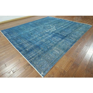 W886 Wool Square Overdyed Hand-knotted Oriental Rug (10' x 11')