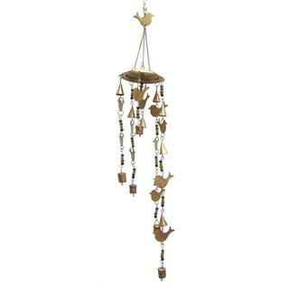 Celebration Birds and Bells Wind Chime - Gold