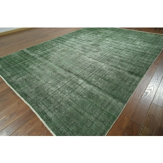 W908 Wool Overdyed Veg Dyed Hand-knotted Rug (9' x 13')