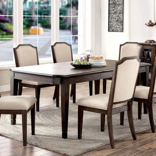 Furniture of America Haylette Rustic Wire-Brushed Brown 78-inch Dining Table