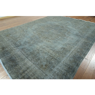 W919 Grey Wool Overdyed Hand-knotted Oriental Rug (10' x 13')