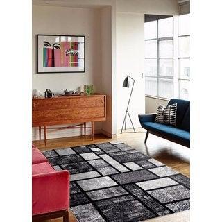 Modern Grey Square Rug (6'5 x 9'2)