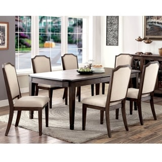 Furniture of America Haylette Rustic 7-piece Wire-Brushed Brown Dining Set
