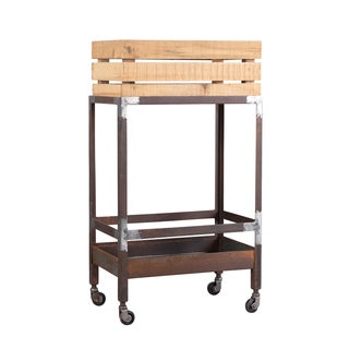 Pine and Iron Drink Cart