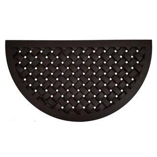 Hampton Weave Rubber Doormat (1'8 x 3')