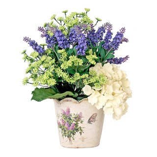 Assorted Bouquet in Decorative Butterfly Floral Tin Container