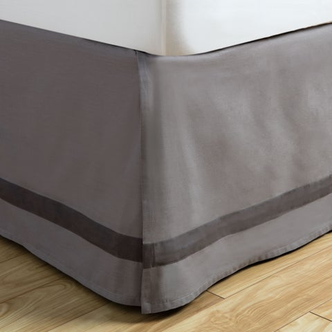 Andrew Charles Atlas Collection Grey Cotton Bed Skirt