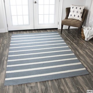 Rizzy Home Azzura Hill Collection Striped Accent Rug - 2' x 3'