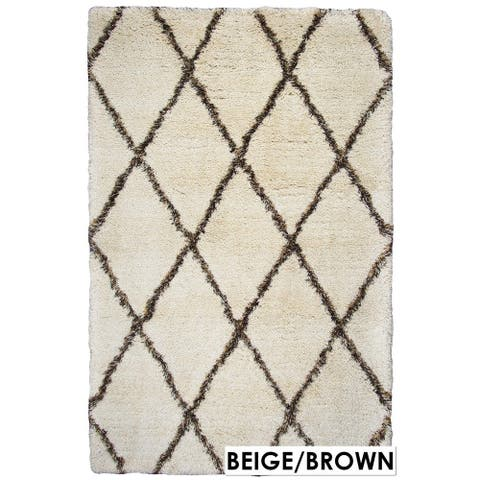 Rizzy Home Connex Collection Polyester Shag Accent Rug (2' 6 x 8-inch)
