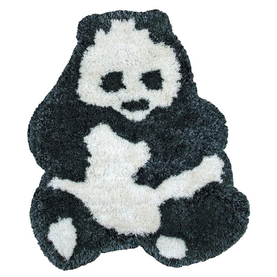 Rizzy Rugs Animal 'Bao Bao' Panda Bear Accent Rug (3' x 3...